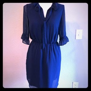 Banana Republic Blue and Black checked Dress XS